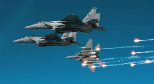 """F-15 EAGLE MILITARY JET  24/"""" x 43/""""  LARGE HD WALL POSTER PRINT FIGHTER JET"""