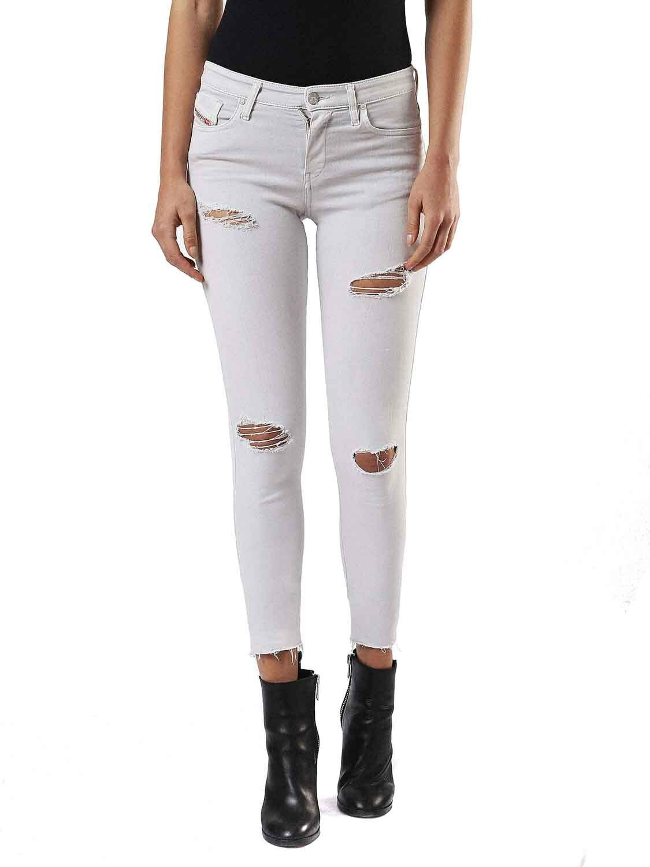 Diesel Skinzee 084EX Elasticizzato women Jeans Aderenti grey