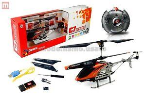 Radiosistemi-SH6030-Helicoptere-SH-C7-3-Canaux-Infrarouges-orange-modelisme