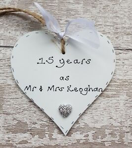 15th Wedding Anniversary.Details About 15th Wedding Anniversary Gift Personalised Anniversary Gift Handmade Gift