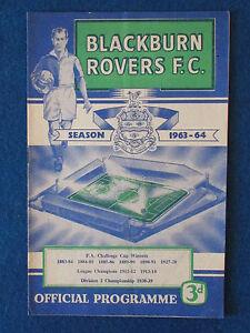 Blackburn-Rovers-v-Tottenham-Hotspur-7-9-63-Programme