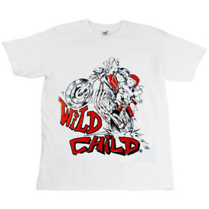 Childrens-Motorcycle-Kids-Shirt-T-Shirt-Wild-Child
