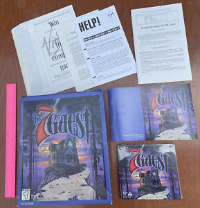 Vintage The 7th Guest Big Box Horror Adventure PC Game CD-ROM New Sealed Discs