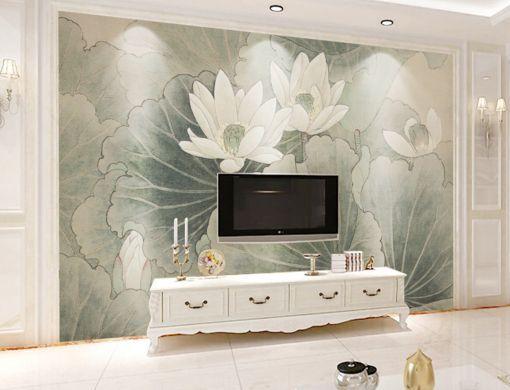 3D Lotusblüte 464545 Fototapeten Wandbild Fototapete BildTapete Familie DE