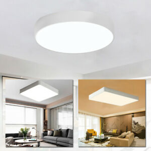Details zu Acryl LED Deckenlampe Dimmbar mit Fernbedienung Deckenleuchte  Wohnzimmer Weiß DE