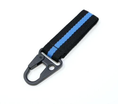 LFPartS Keychain Tactical Key Ring Holder Nylon Belt with Thin Blue Line