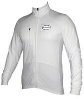 Zimco Pro Bike Jacket Cycling Viz Jacket Winter Soft Shell Wind Jersey White1151