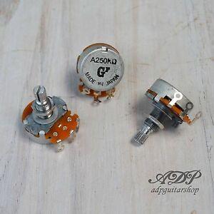 3 X Potentiomètres Japan 250 Ko Audio Axe Fendu 6/8 Mm Pot Ea250-3 Oeqx0bfs-07164937-808787115