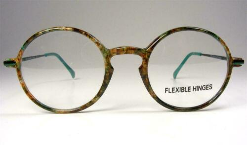 Green Marbled Round P3 Eyeglasses Frames NOS Vintage 46 Small Dollond Aitchison