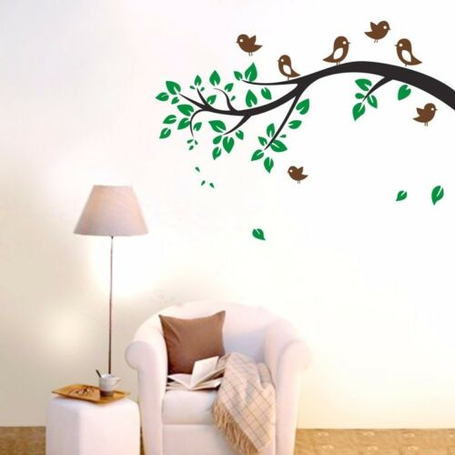 Large Tree Branch Birds wall stickers Home Decal Art Vinyl Living Room Decor DIY