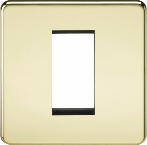 Knightsbridge Screwless 1G 1 Gang Modular Faceplate Flat Plate Socket Switch