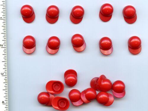 LEGO x 20 Red Minifig Headgear Cap Short Curved Bill NEW City