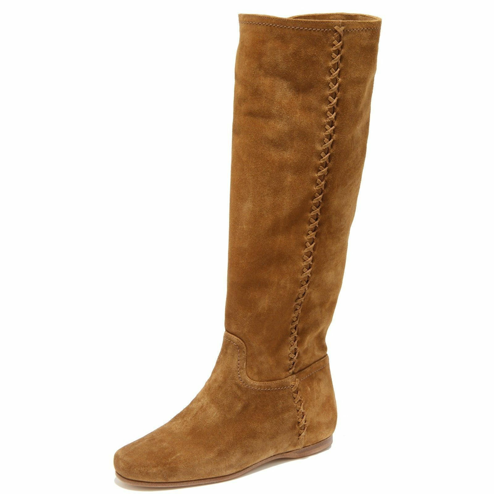 CAR SHOE by Prada Boots Suede caramel Size US 6 NEW/BOX