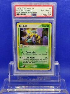 Beedrill-Holo-PSA-8-5-NM-MT-2004-EX-Fire-Red-Leaf-Green-1-Pokemon