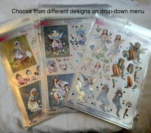 DUFEX-A4-Foiled-Die-Cut-3D-Decoupage-Sheets-Fairy-Faerie-Poppets-Design-Options