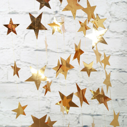 13Ft Glitter Star Paper Banner Garland Hanging Backdrop Wedding Party Home Decor