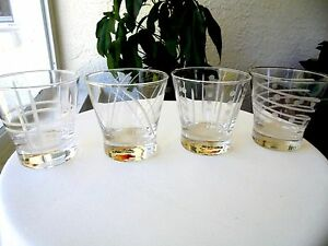 Set-of-4-Cheers-Style-Double-Old-Fashioned-Glasses-3-3-4-034-Tall