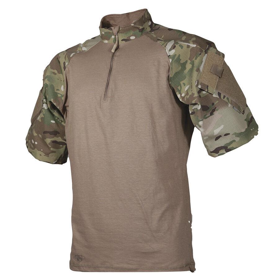 Tru-Spec Multicam Coyote 1 4 Zip short Sleeve Combat Shirt