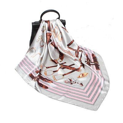 Women Fashion Hijab Scarf Harness Print Soft Satin Head Neck Shawl Wraps 90*90cm
