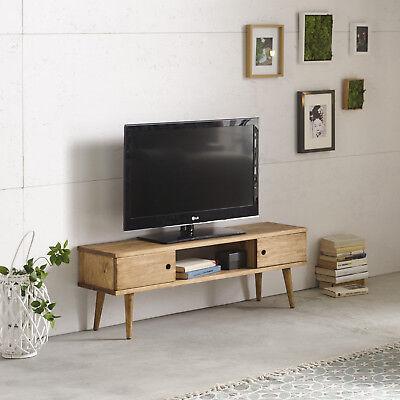 Hogar24-Mesa televisión, mueble tv salón diseño vintage, 2 puertas y estante