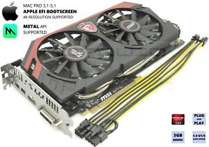 MSI HD R9 280X 3GB Upgrade for 1,1-5,1 Apple MAC PRO 4K, METAL