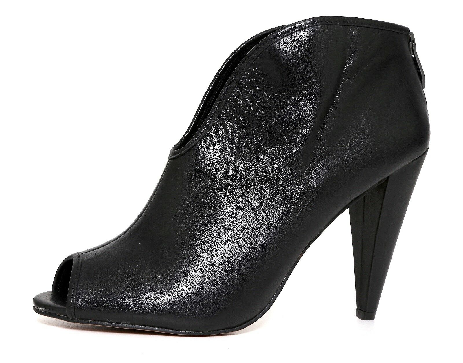Vince Camuto Ambers Leather 8 Bootie Black Women Sz 8 Leather M 5237 * b95156