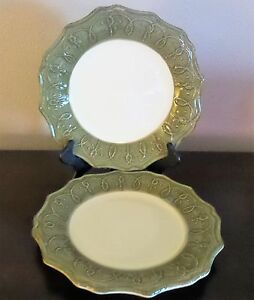 Image is loading Pier-1-Gemma-Baroque-Mosstone-Handpainted-Earthenware- Italian- : italian dinner plates - pezcame.com