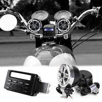 Handlebar Mount Audio Radio Mp3 Stereo 2 Speakers Aux Input For Yamaha Cruisers