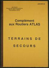 AIR FRANCE - COMPLEMENT ROUTIERS ATLAS MANUELS LIGNES TERRAINS DE SECOURS