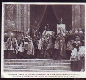 1927 -- ORLEANS FETES JEANNE ARC BENEDICTION E983 - France - 1927 -- ORLEANS FETES JEANNE ARD BENEDICTION il ne s'agit pas d'une carte postale , mais d'un beau document paru dans la rare illustration. EN 1927 le document GARANTI D'EPOQUE est en tres bon état et présenté sur carton d'encadrement format 1 - France