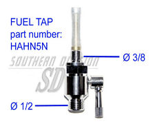 RUBINETTO BENZINA 40th Panther AJS MATCHLESS SUNBEAM FUEL TAP 1/8g = Ø 9,5mm 3/8 thread