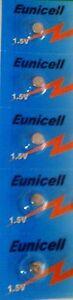 EUNICELL - 5 Piles alcalines AG0 / SR521/ D379 / V379 / 379