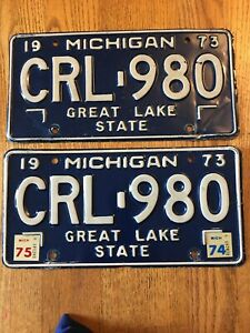 VINTAGE-PLATES Traverse City Michigan Aluminum License Plate