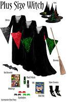 Sexy Lace-Up 7 pc Complete Witch Costume Set PLUS SIZE 1x 2x 3x 4x 5x 6x 7x 8x