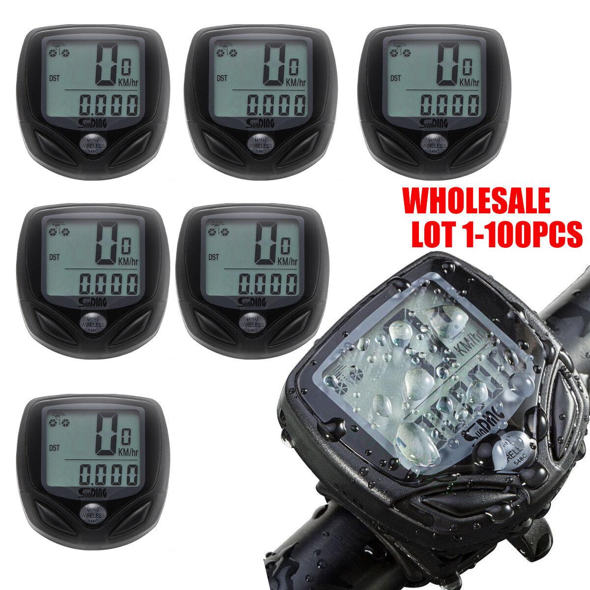 Waterproof Wireless LCD Digital Cycle Bike Bicycle Computer Speedometer&Odometer
