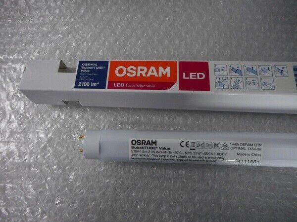 7 St. OsRAM LED Röhren SubstiTUBE Value T8 1500 21W 840 für Leuchtstofflampe EVG