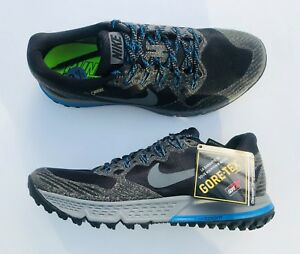 a7710a34f0de45 Nike Air Zoom Wildhorse 3 GTX Running Shoes 805569-001 Black Gray ...