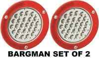 Bargman Set Of 2 (two) 4 Round Led Trailer Tail Lamp W/ Mount Flange 54200-012