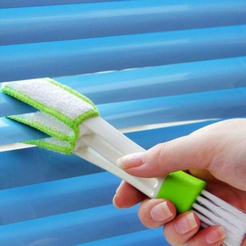 Double Head Car Air-condition Brush Dust Collector Blinds Duster Cleaner JD