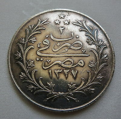 Egypt 10 Qirsh 1910 /2 Ah 1372/2 About Unc #aa18 Egypt Africa