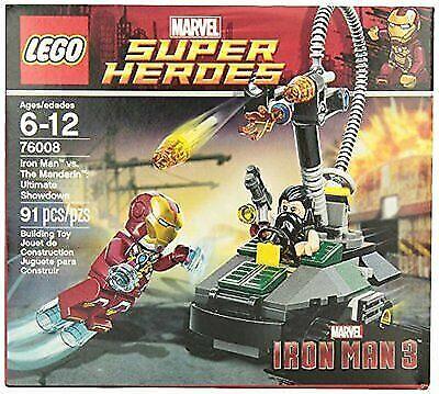 Lego Super Heroes Iron Man Vs  The Mandarin Ultimate Showdown 76008 for  sale online | eBay