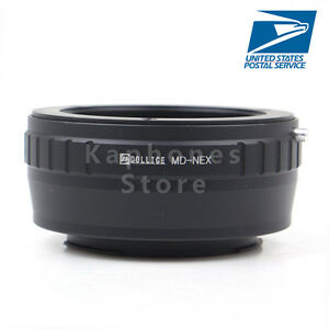 US Camera Adapter For Minolta MD Lens To Sony A6300 A6000 NEX 3 7 6 5T A7 A7II