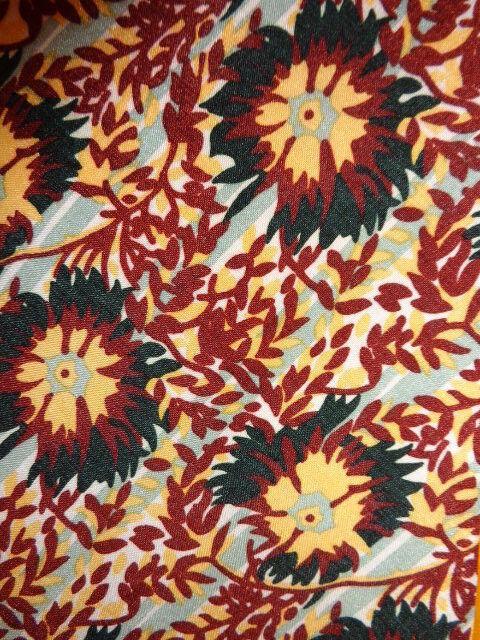 * 1970s VINTAGE PIERRE CARDIN DRESS TIE ~FUNK MOD DISCO ~RUST BROWN MUSTARD ~54