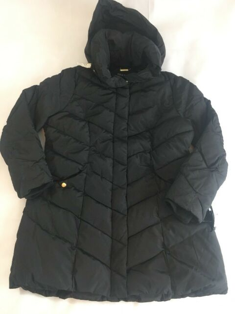 ca266f927 Steve Madden Women's Puffer Quilted Jacket Black Coat XL Hooded  Fleece-Lined NEW