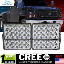 4pcs LED Headlights For Chevrolet Kodiak C4500 and C5500 2003-2009 Models 2 Pair