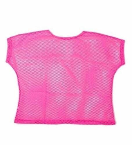 80s Neon Vest Mesh Punk Mod Ladies Fancy Dress Bright Mesh Top