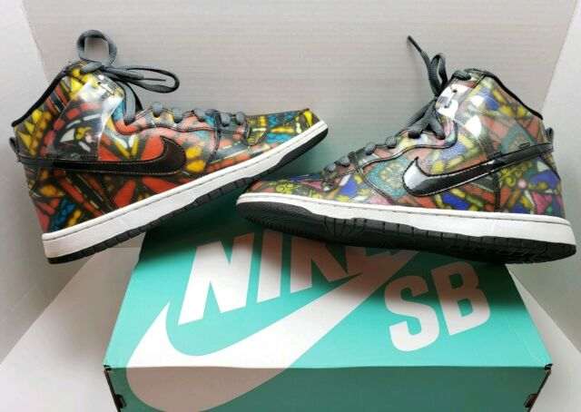 """Nike Dunk SB High CNCPTS """"Stained Glass"""" Size 9.5, Clean  Hardly Worn"""