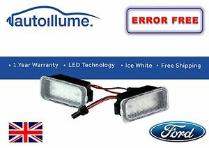 Ford-fiesta-Mk7-Mk7-5-Zetec-S-St-18-SMD-LED-Numero-De-Matricula-Unidades-de-Luz