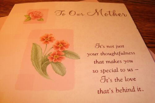 """your Thoughtfulness /"""" New e15 Mother /"""" To Our Mother EASTER Greeting CARD"""