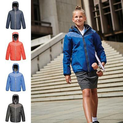 Regatta Boys Professional Kids Reflector Waterproof Insulated Jacket With Reflective Panels